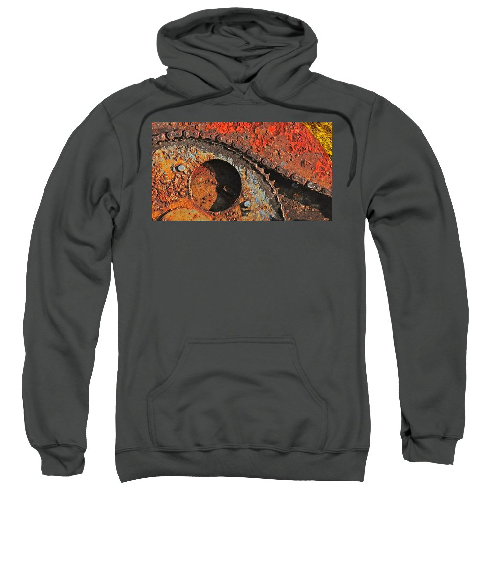 Winch Sweatshirt featuring the photograph Old Winch Study by Dave Mills