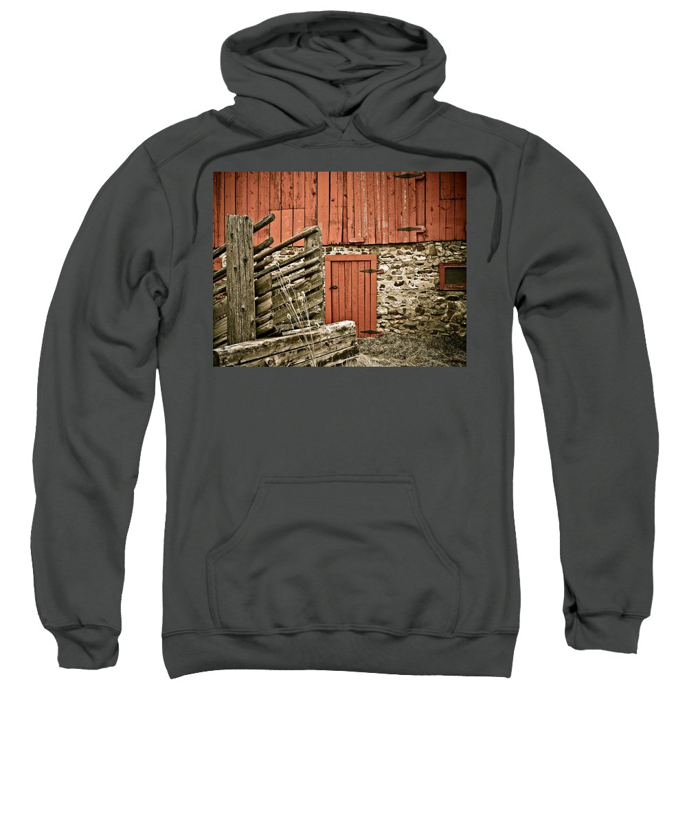 Old Sweatshirt featuring the photograph Old Wood by Marilyn Hunt