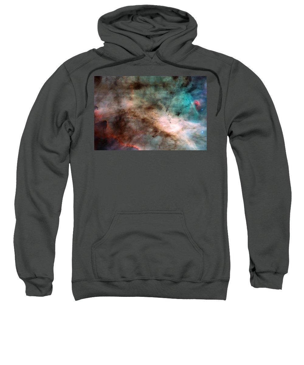 Nebula Sweatshirt featuring the photograph Omega Swan Nebula 1 by Jennifer Rondinelli Reilly - Fine Art Photography