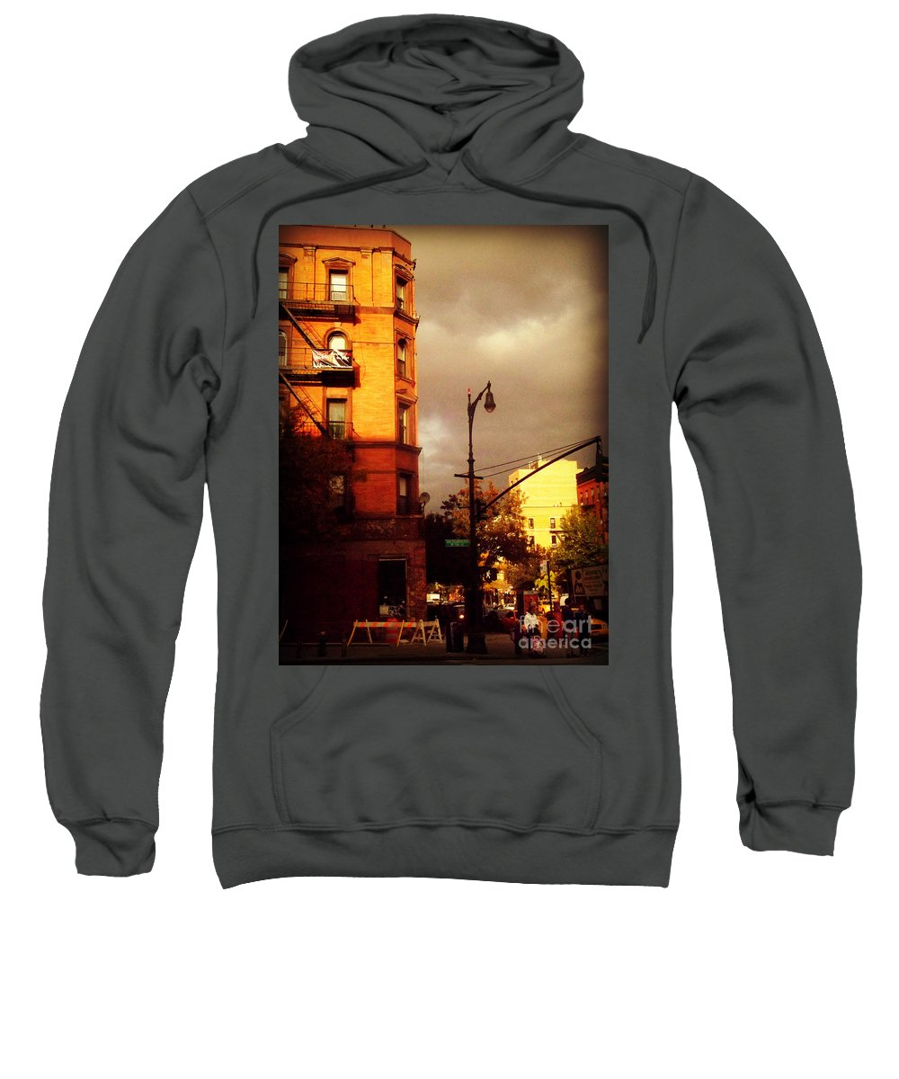 New York New York City Sweatshirt featuring the photograph On The Boulevard by Miriam Danar