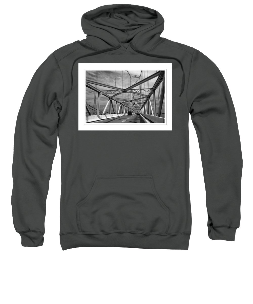 Bridge Sweatshirt featuring the photograph On The Bridge by Alice Gipson