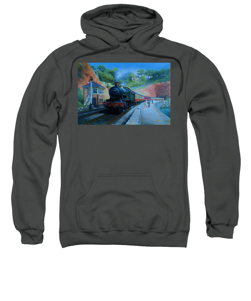 Train Sweatshirt featuring the painting On The Sea Wall. by Mike Jeffries