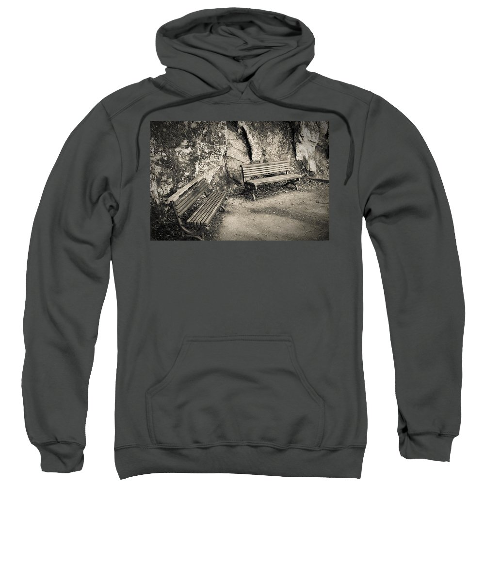 Advertising Sweatshirt featuring the photograph One Last Stop by Sotiris Filippou