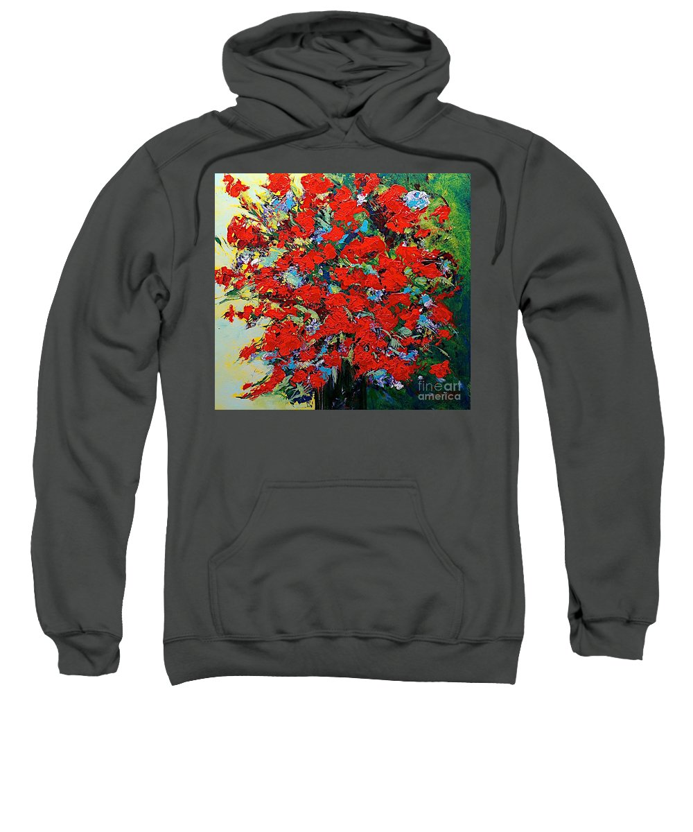 Landscape Sweatshirt featuring the painting One Of A Kind by Allan P Friedlander