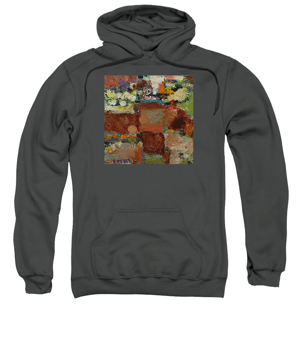 Landscape Sweatshirt featuring the painting One Way by Allan P Friedlander