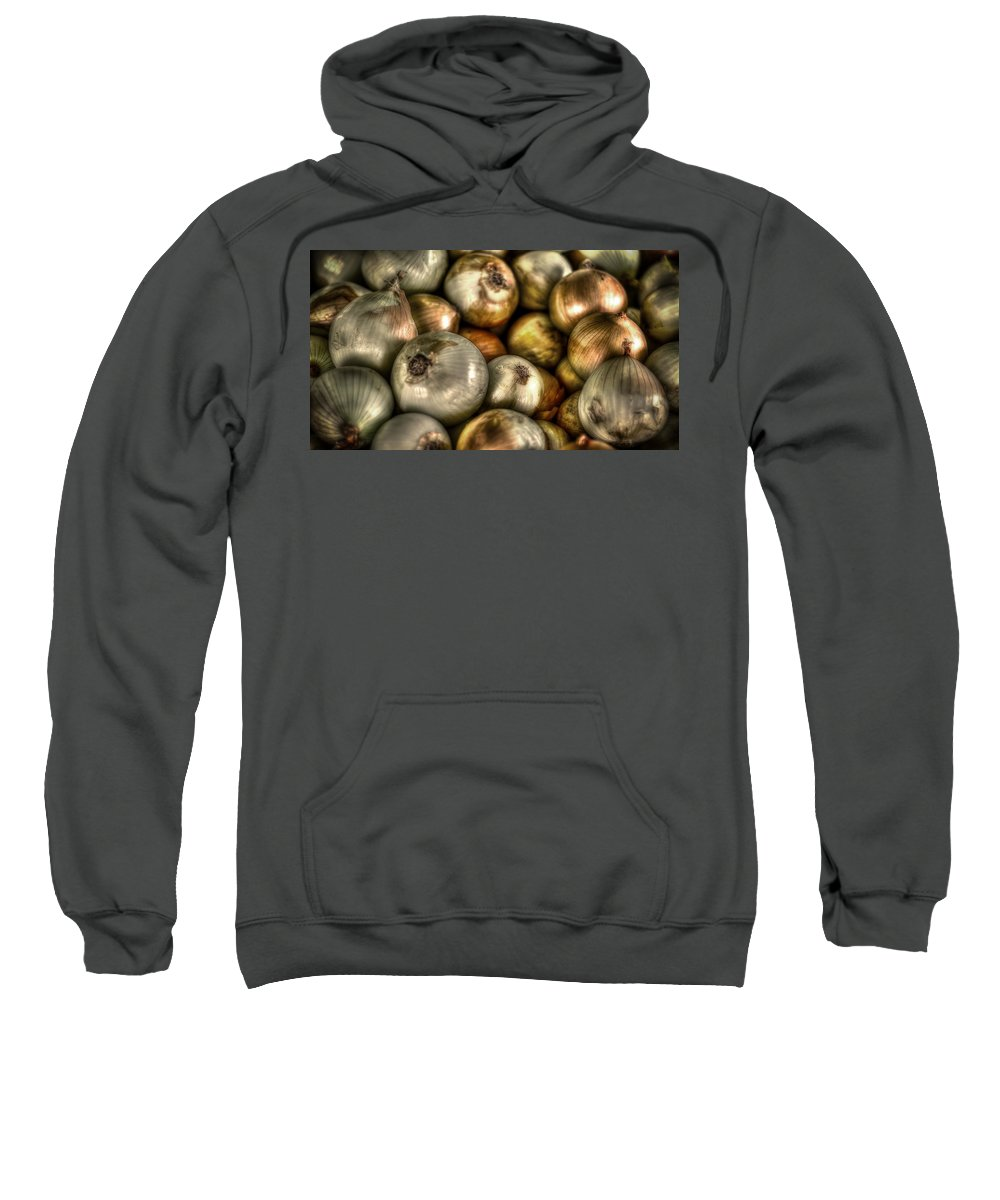 Onions Sweatshirt featuring the photograph Onions by David Morefield