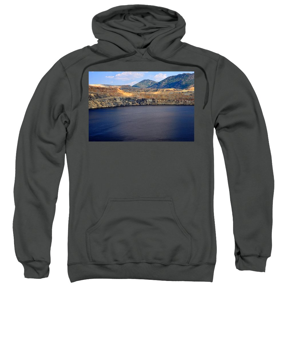 Butte Sweatshirt featuring the photograph Open Pit Copper Mine by Image Takers Photography LLC - Laura Morgan