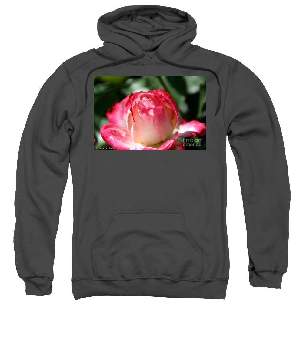 Flower Sweatshirt featuring the photograph Open To A New Day by Susan Herber