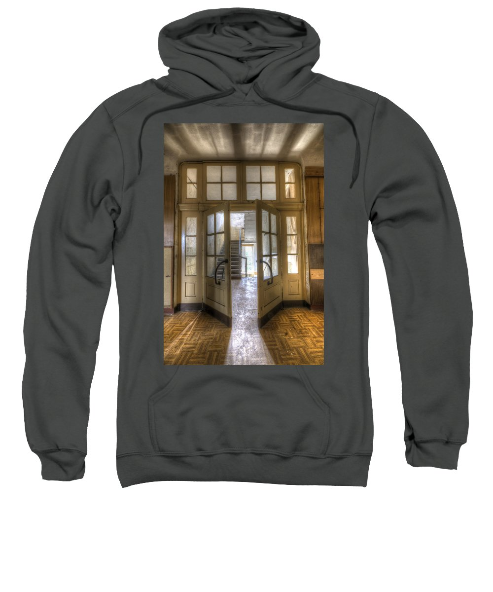 Abandoned Sweatshirt featuring the digital art Open To The Light by Nathan Wright