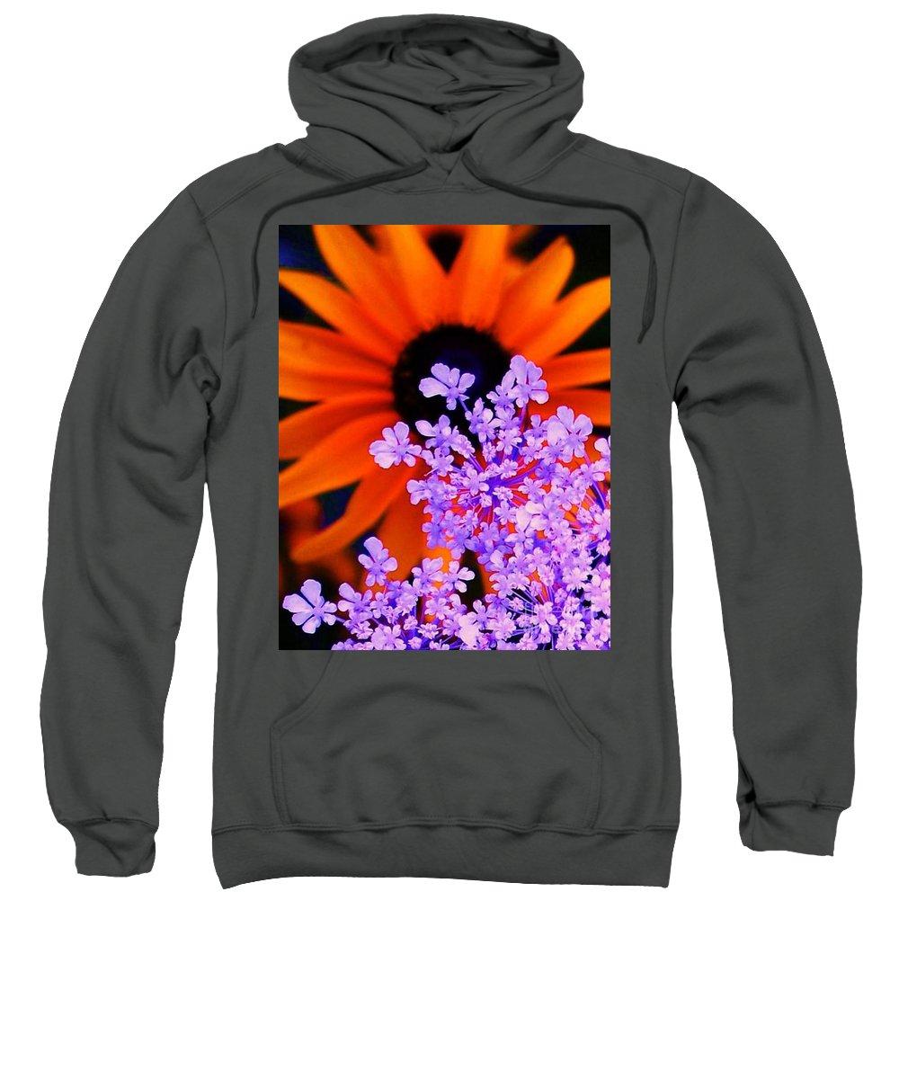 Orange Sweatshirt featuring the photograph Orange And Lavender by Eric Schiabor