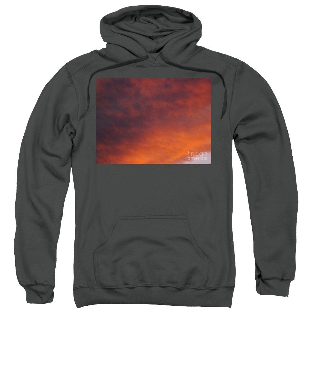 Sunset Sweatshirt featuring the photograph Orange Clouds At Sunset by Jussta Jussta