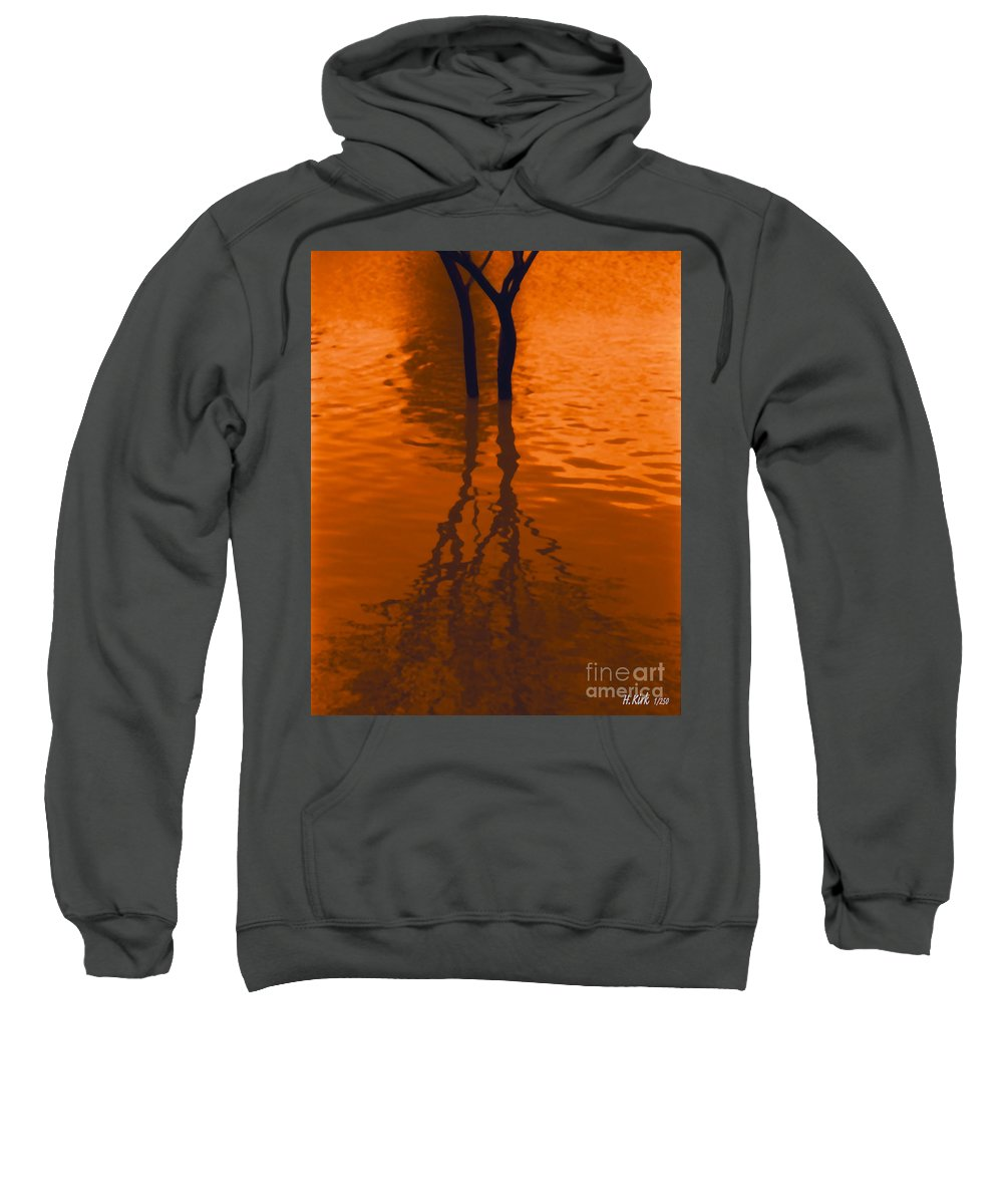 Water Sweatshirt featuring the photograph Orange Glow by Heather Kirk