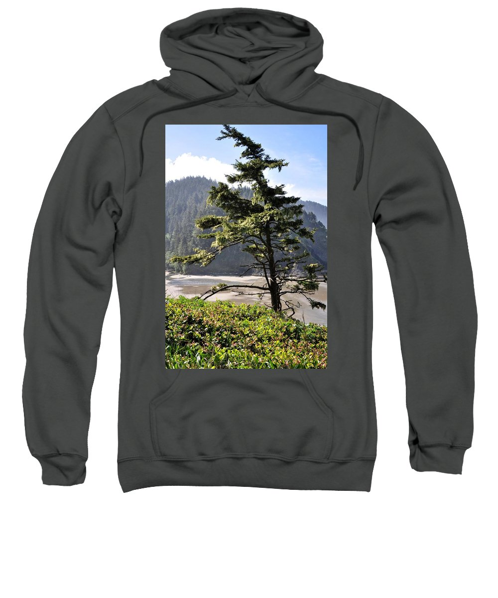 Oregon Sweatshirt featuring the photograph Oregon - Heceta by Image Takers Photography LLC