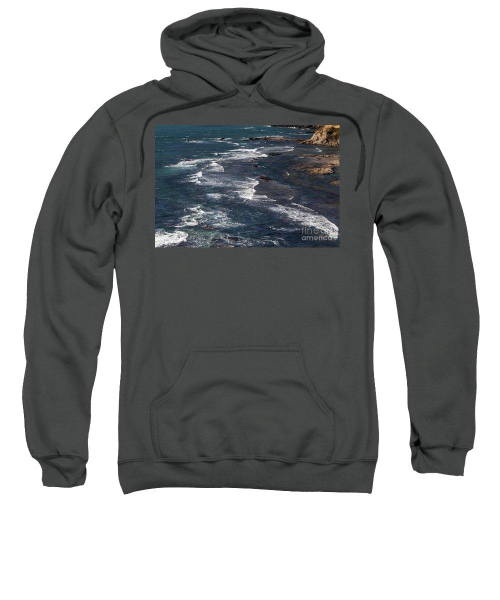 Oregon Coast Coastline Rock Rocks Wave Waves Water Pacific Ocean Oceans Sea Seas Coastlines Coasts Shore Shores Shoreline Shorelines Seascape Seascapes Sweatshirt featuring the photograph Oregon Coast by Bob Phillips