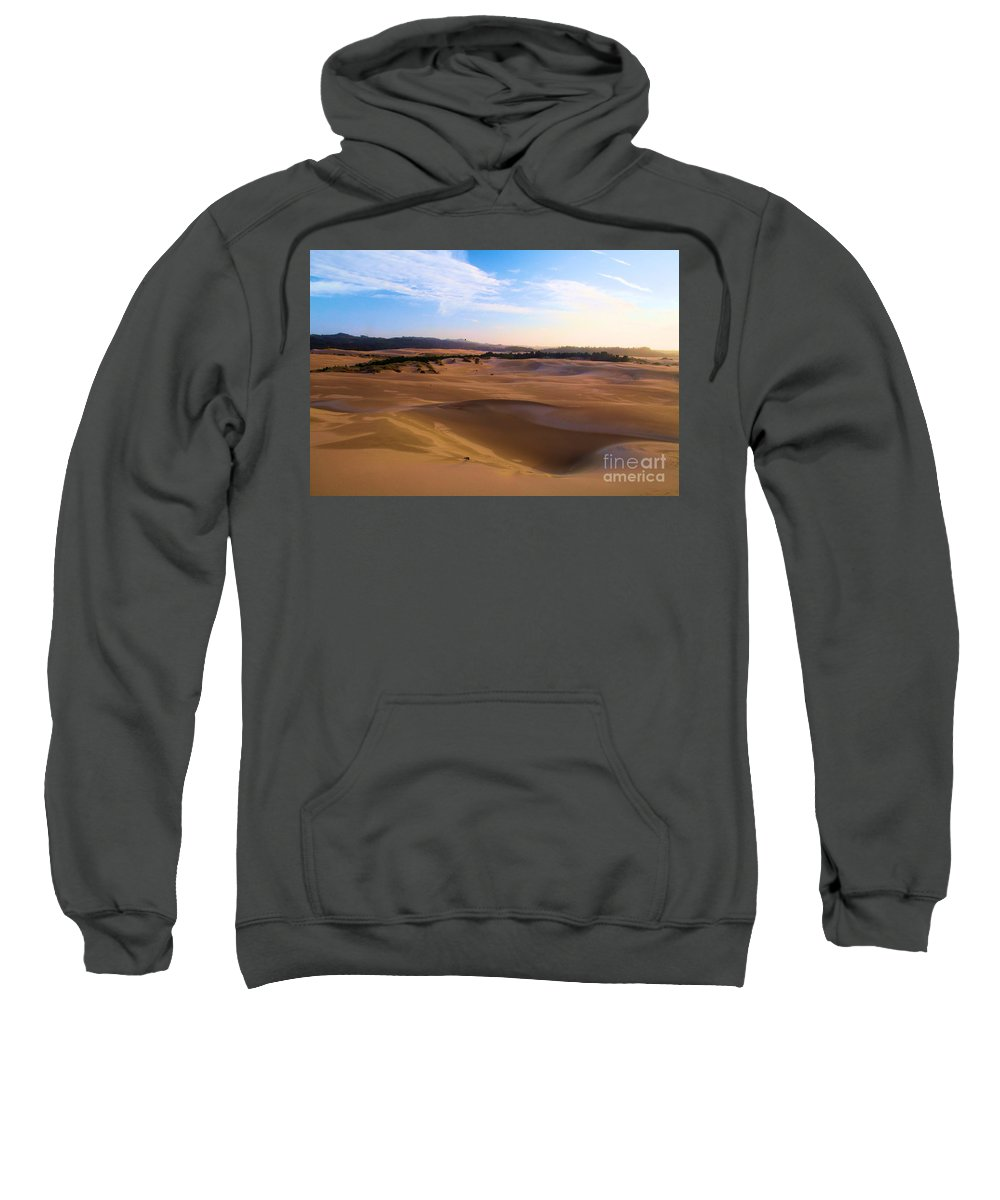 Oregon Dunes Sweatshirt featuring the photograph Oregon Dunes Landscape by Adam Jewell