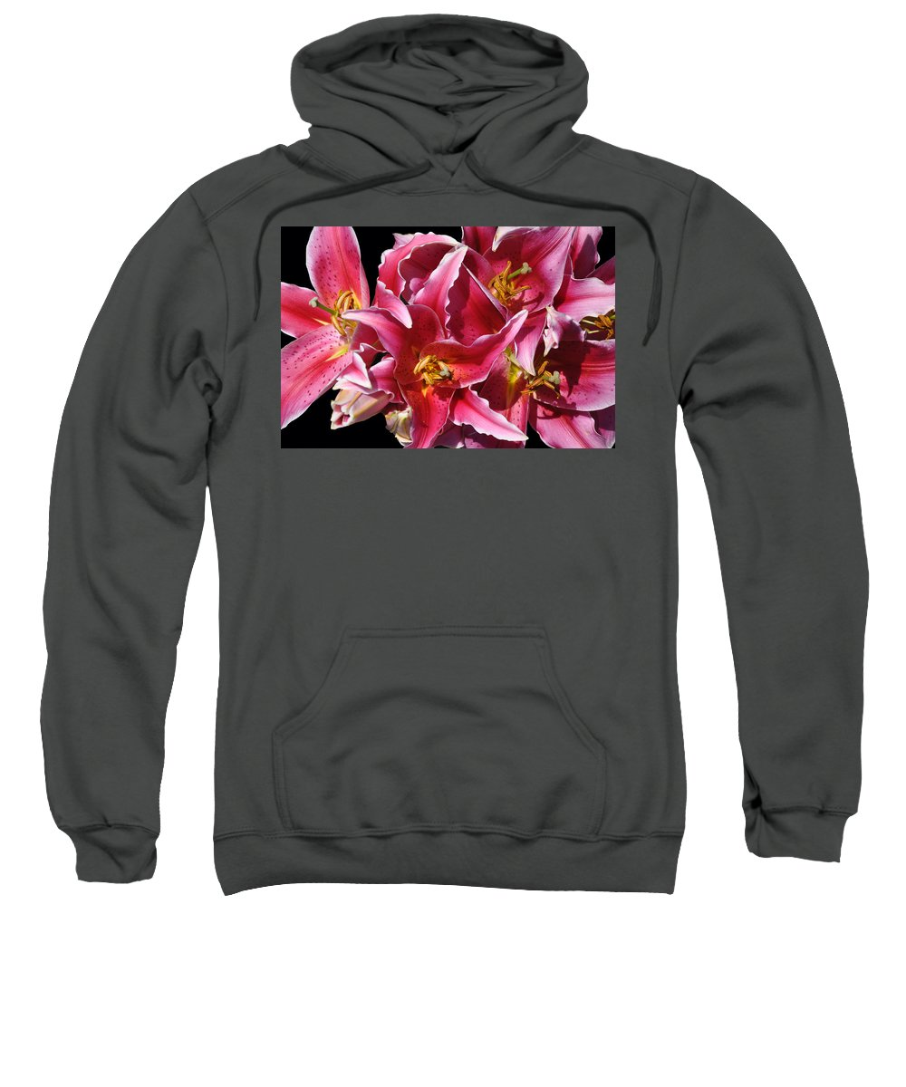 Lily Sweatshirt featuring the photograph Oriental Lily by Deborah Good