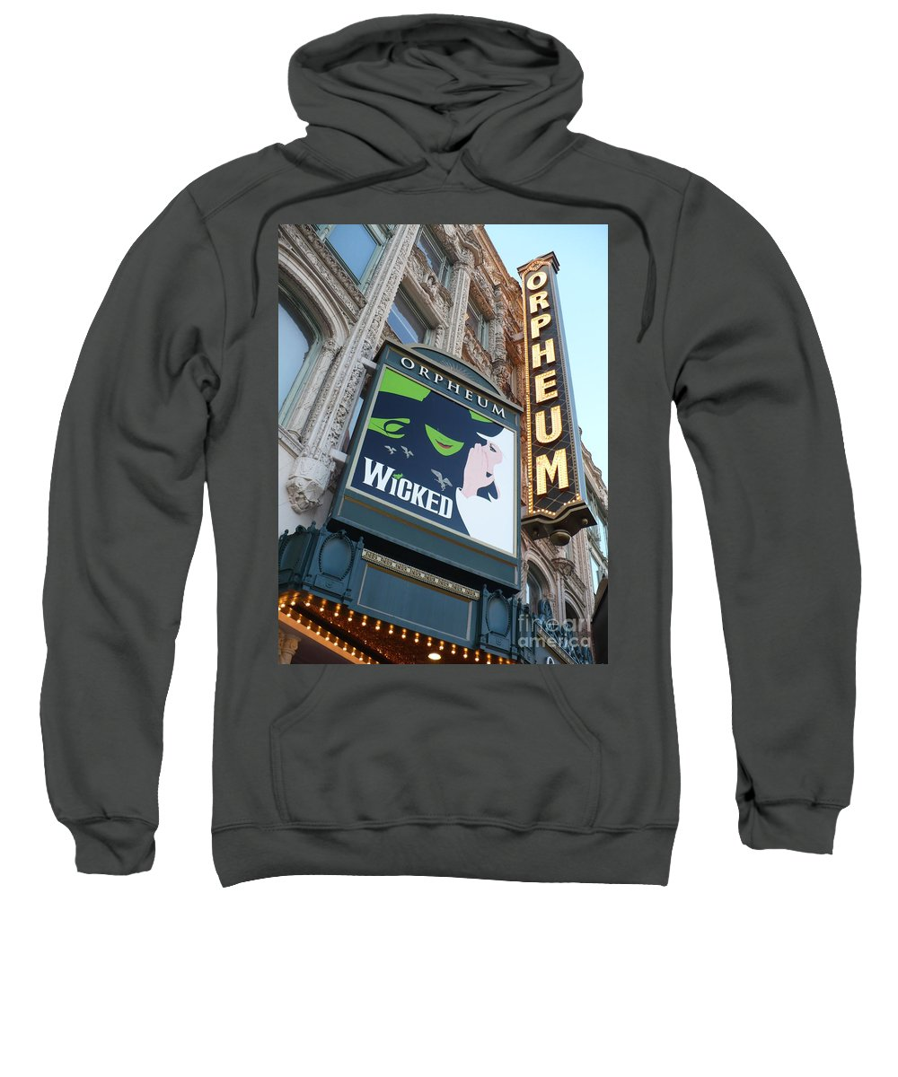 City Sweatshirt featuring the photograph Orpheum Sign by Carol Groenen