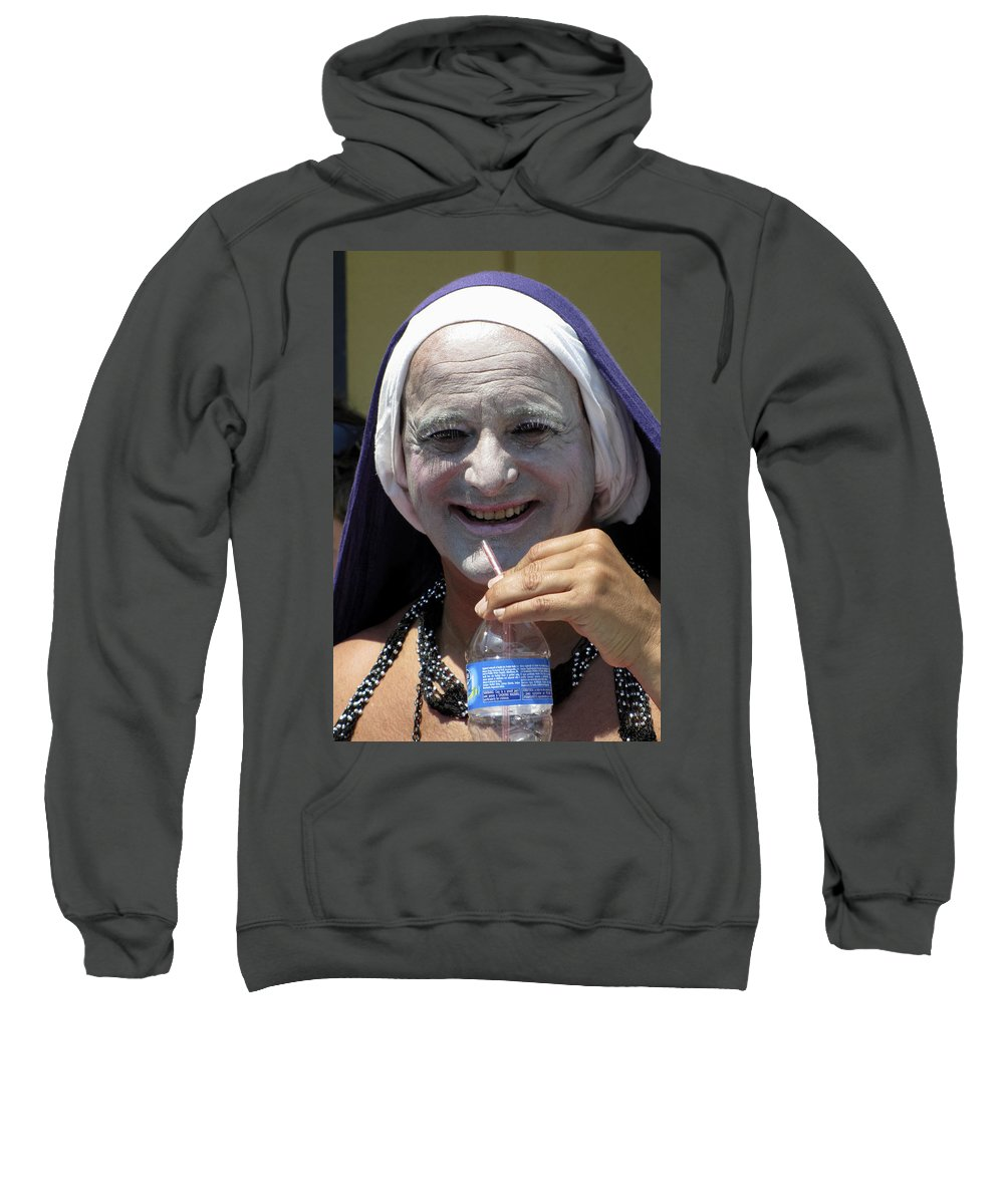 Portrait Sweatshirt featuring the photograph Out Of Habit by Bob Slitzan