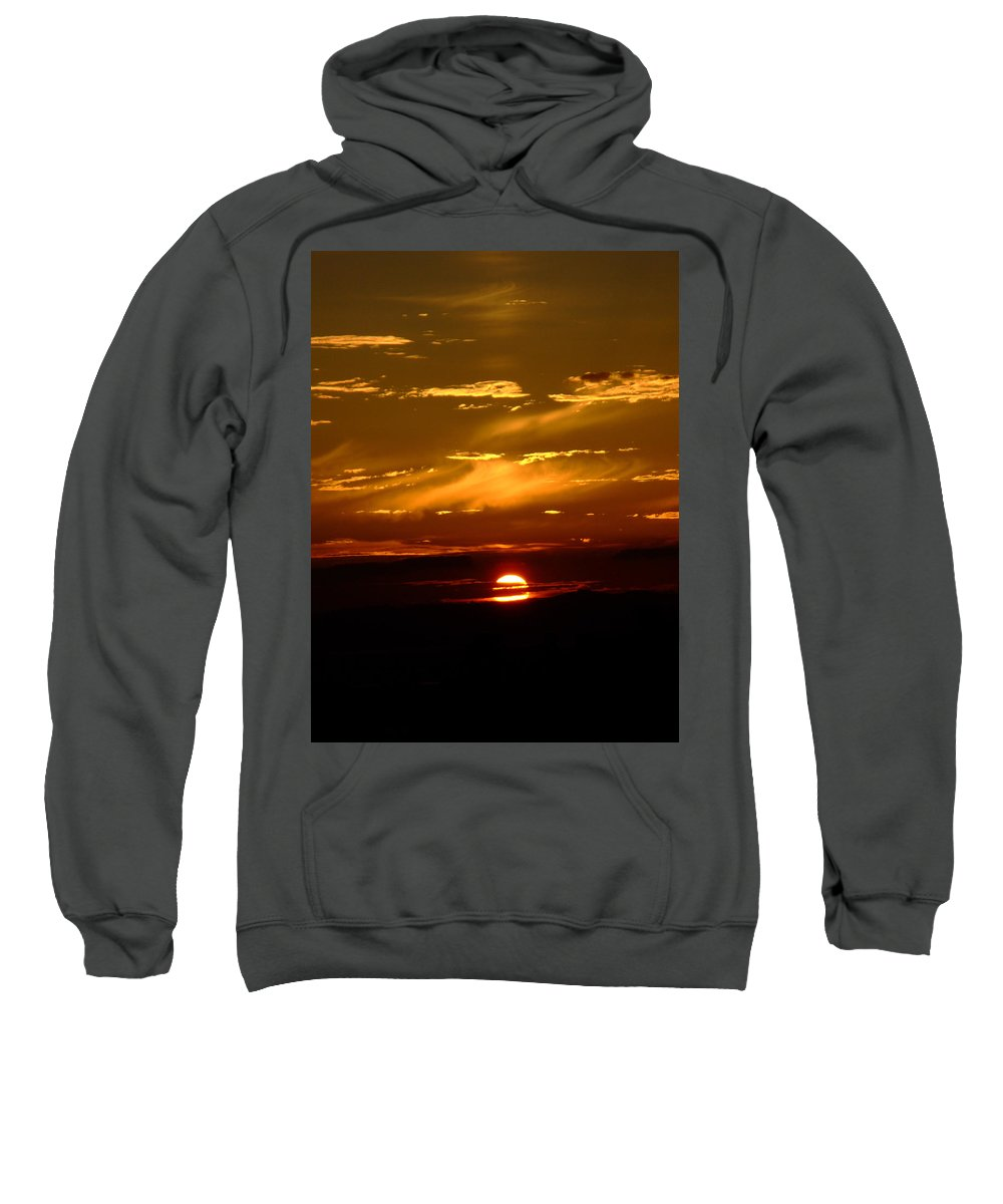 Sunset Sweatshirt featuring the photograph Out Of The Earth's Core by Donna Blackhall