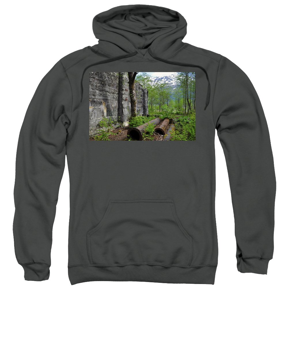 Graffiti Sweatshirt featuring the photograph Out From The Past by Cathy Mahnke