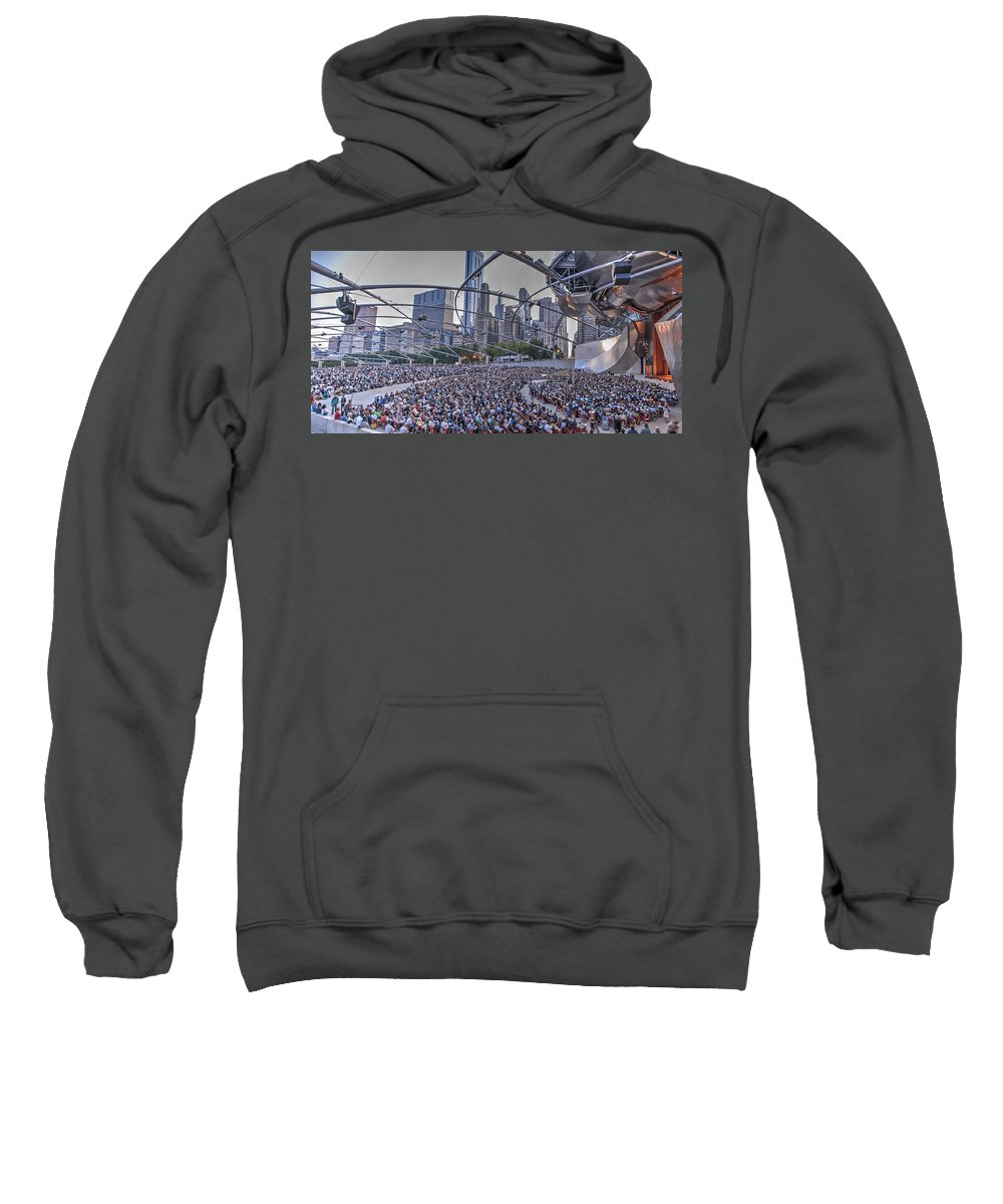 Chicago Sweatshirt featuring the photograph Chicago Outdoor Concert by Patrick Warneka