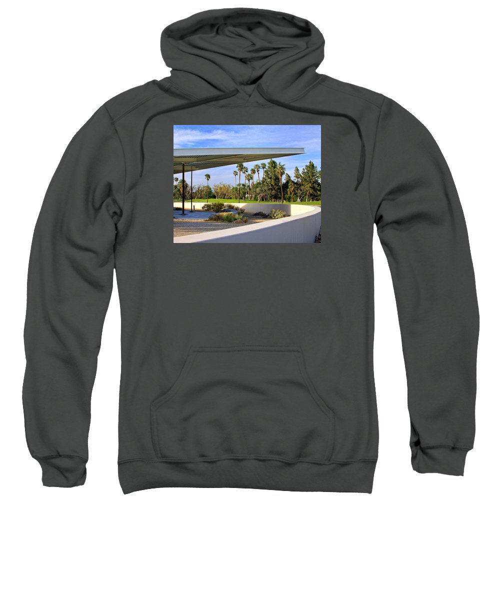 Palm Springs Sweatshirt featuring the photograph Overhang Palm Springs Tram Station by William Dey