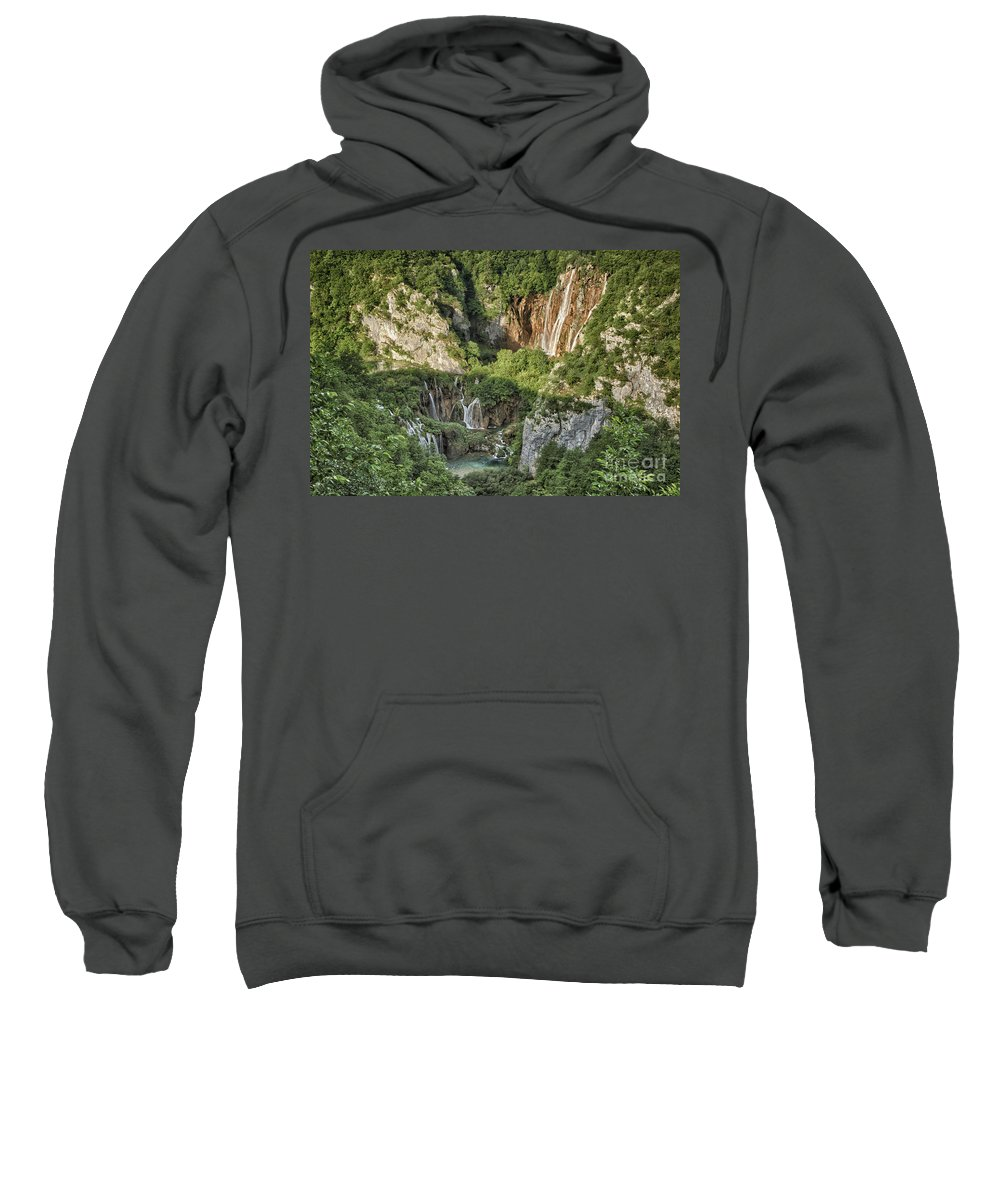 Croatia Sweatshirt featuring the photograph Overview Of Plitvice by Timothy Hacker