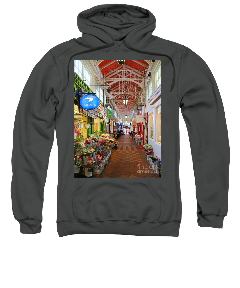 Oxford Sweatshirt featuring the photograph Oxford Arcade 5936 by Jack Schultz