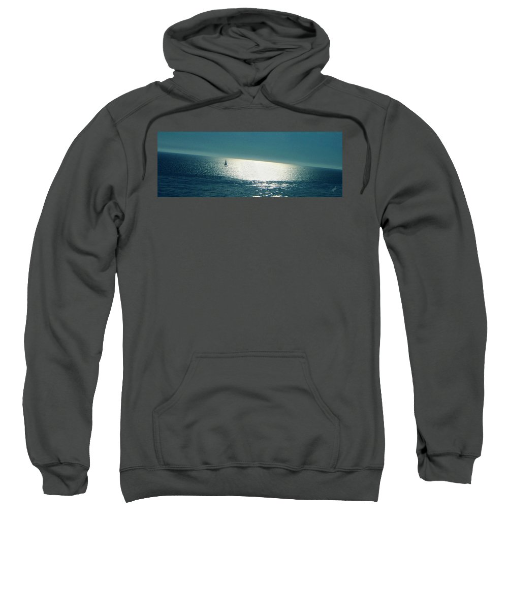 Seascape Sweatshirt featuring the photograph Pacific by Ben and Raisa Gertsberg