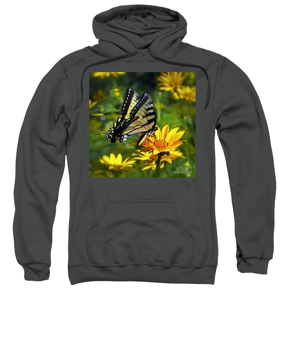 Diane Berry Sweatshirt featuring the painting Painted Lady by Diane E Berry