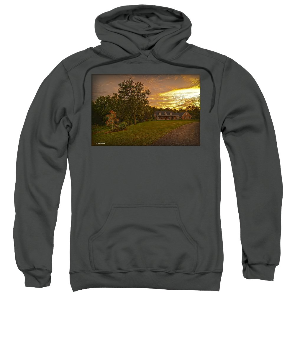 Sweatshirt featuring the photograph Painted Sunset by Randall Branham