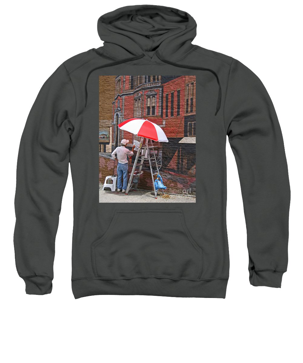 Artist Sweatshirt featuring the photograph Painting The Past by Ann Horn