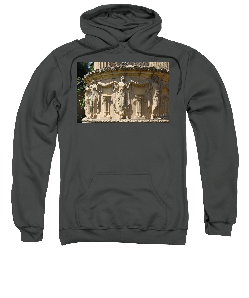 Relief Sweatshirt featuring the photograph Palace Of Fine Arts Relief San Francisco by Christiane Schulze Art And Photography