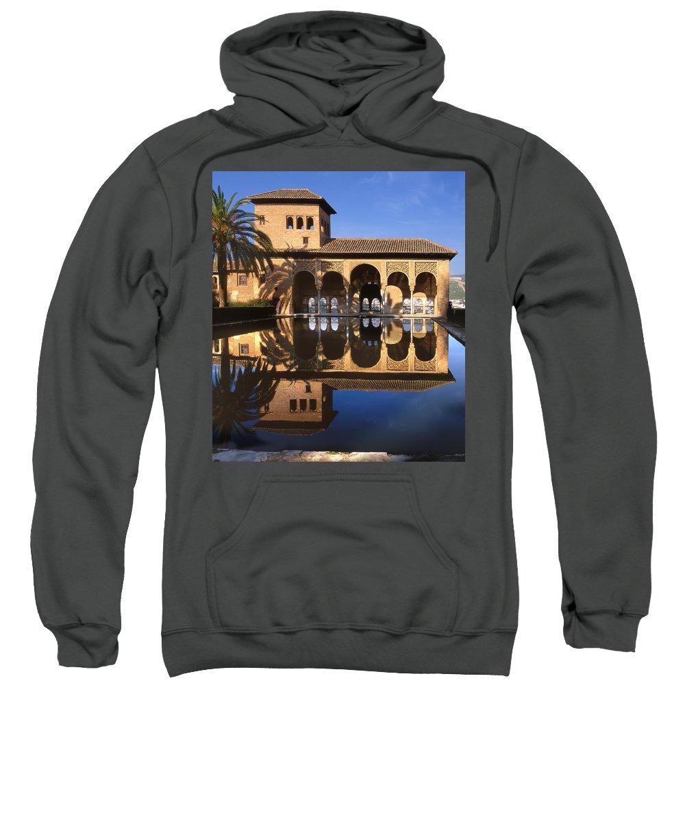 The Alhambra Sweatshirt featuring the photograph Palacio Del Partal La Alhambra by Guido Montanes Castillo