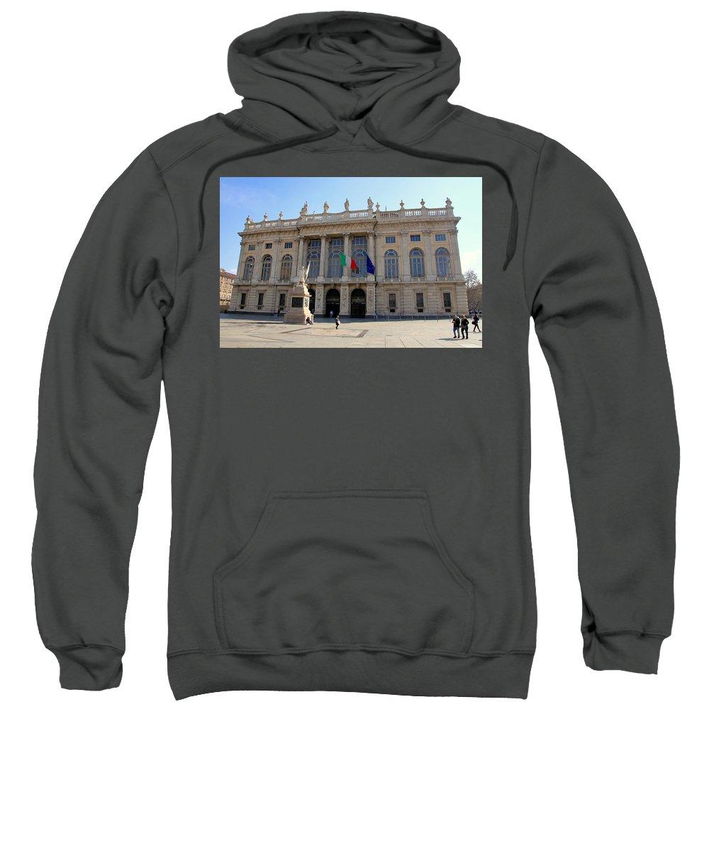 Palazzo Sweatshirt featuring the photograph Palazzo Madama In Turin by Valentino Visentini