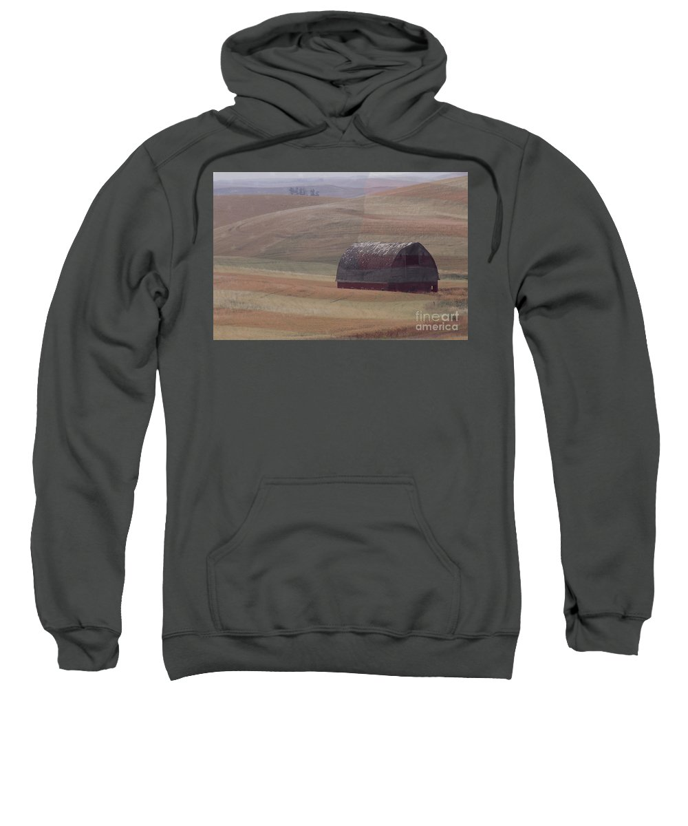 Barn Sweatshirt featuring the photograph Palouse Country U S A by Sharon Elliott
