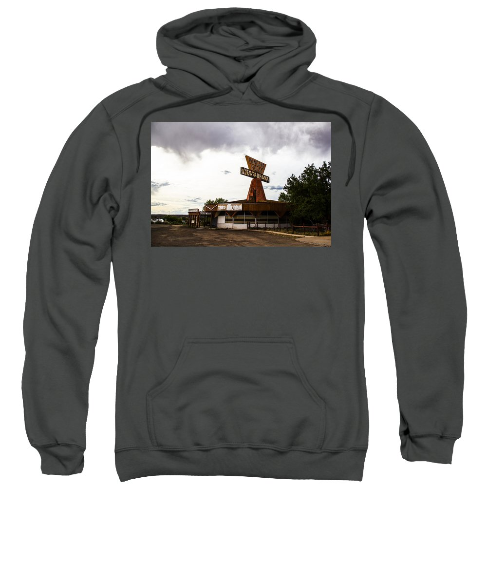 Route 66 Sweatshirt featuring the photograph Pancake House by Angus Hooper Iii
