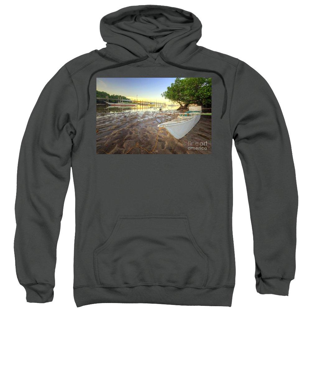 Yhun Suarez Sweatshirt featuring the photograph Panglao Port Sunset 4.0 by Yhun Suarez