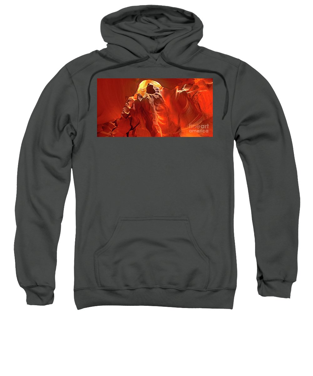 Sandstone Sweatshirt featuring the photograph Panorama Slot Canyon Arizona by Dave Welling