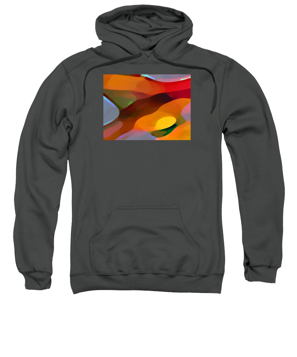 Abstract Sweatshirt featuring the painting Paradise Found by Amy Vangsgard