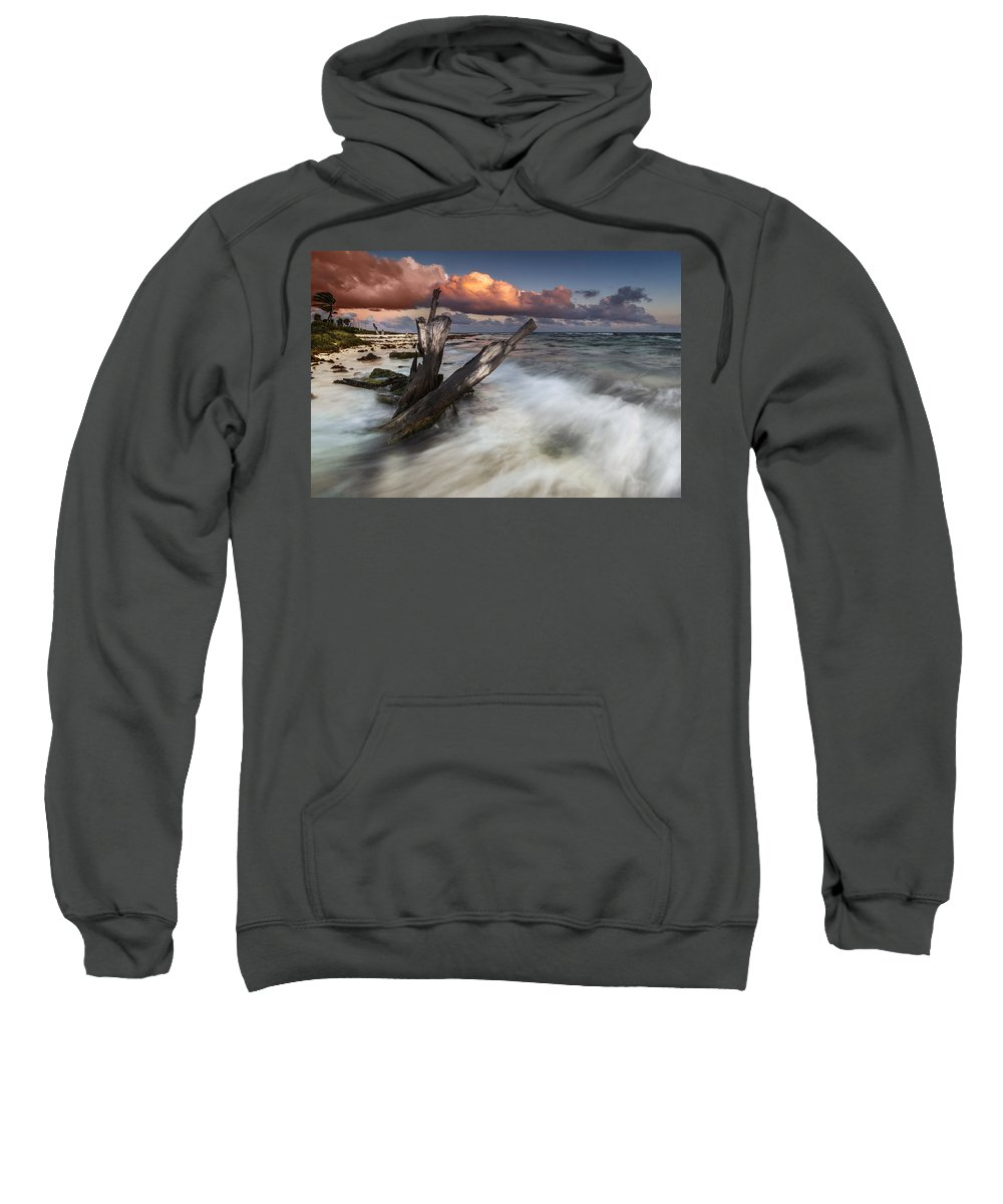 Sunset Sweatshirt featuring the photograph Paradise Lost by Mihai Andritoiu