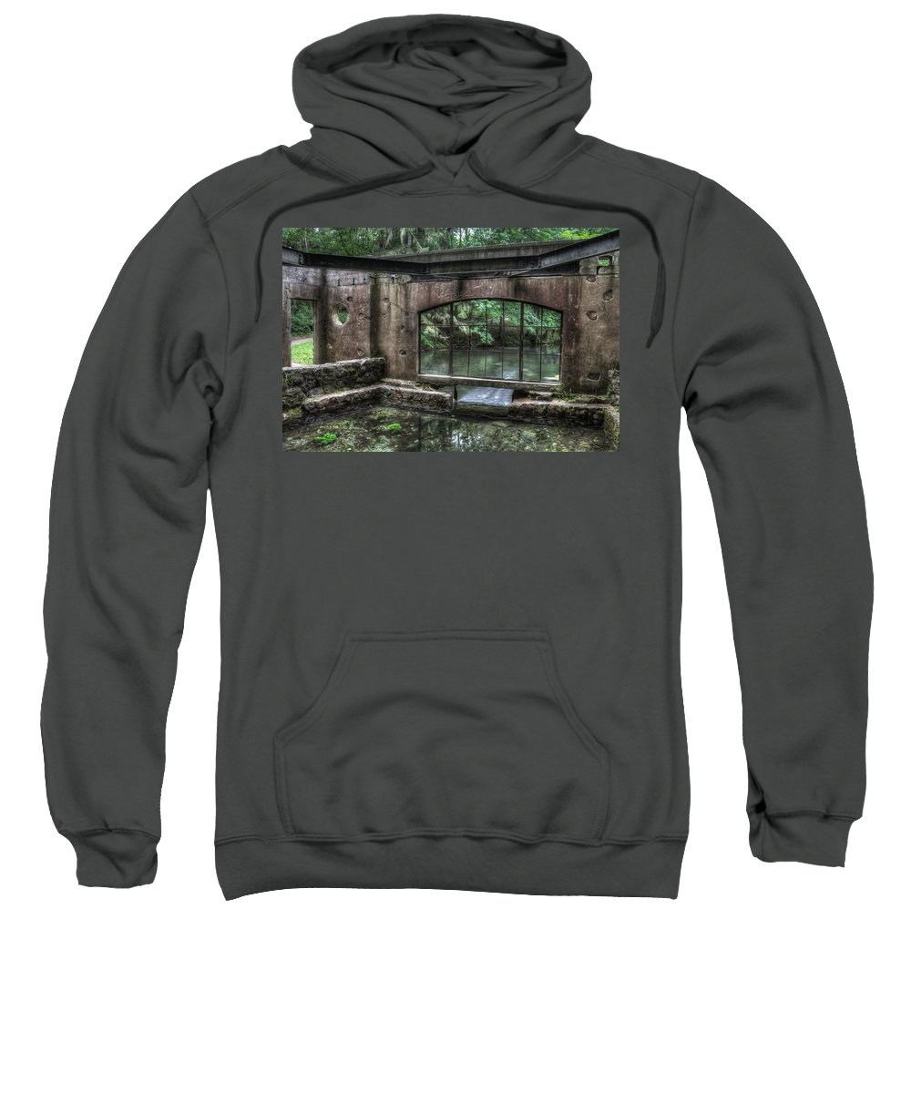 Kettle Moraine Sweatshirt featuring the photograph Paradise Springs Spring House Interior 5 by Jennifer Rondinelli Reilly - Fine Art Photography
