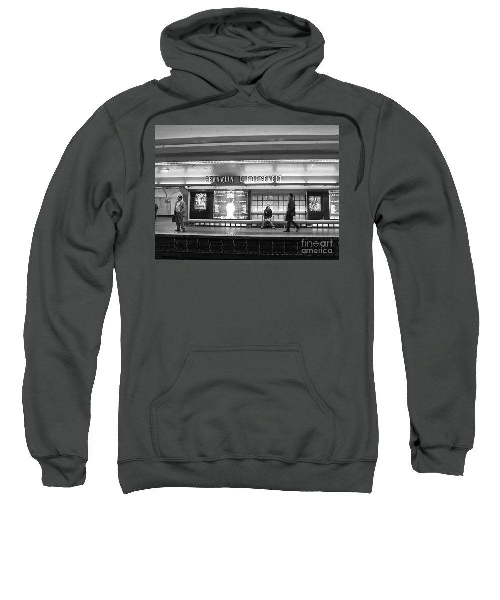 Paris Sweatshirt featuring the photograph Paris Metro - Franklin Roosevelt Station by Thomas Marchessault