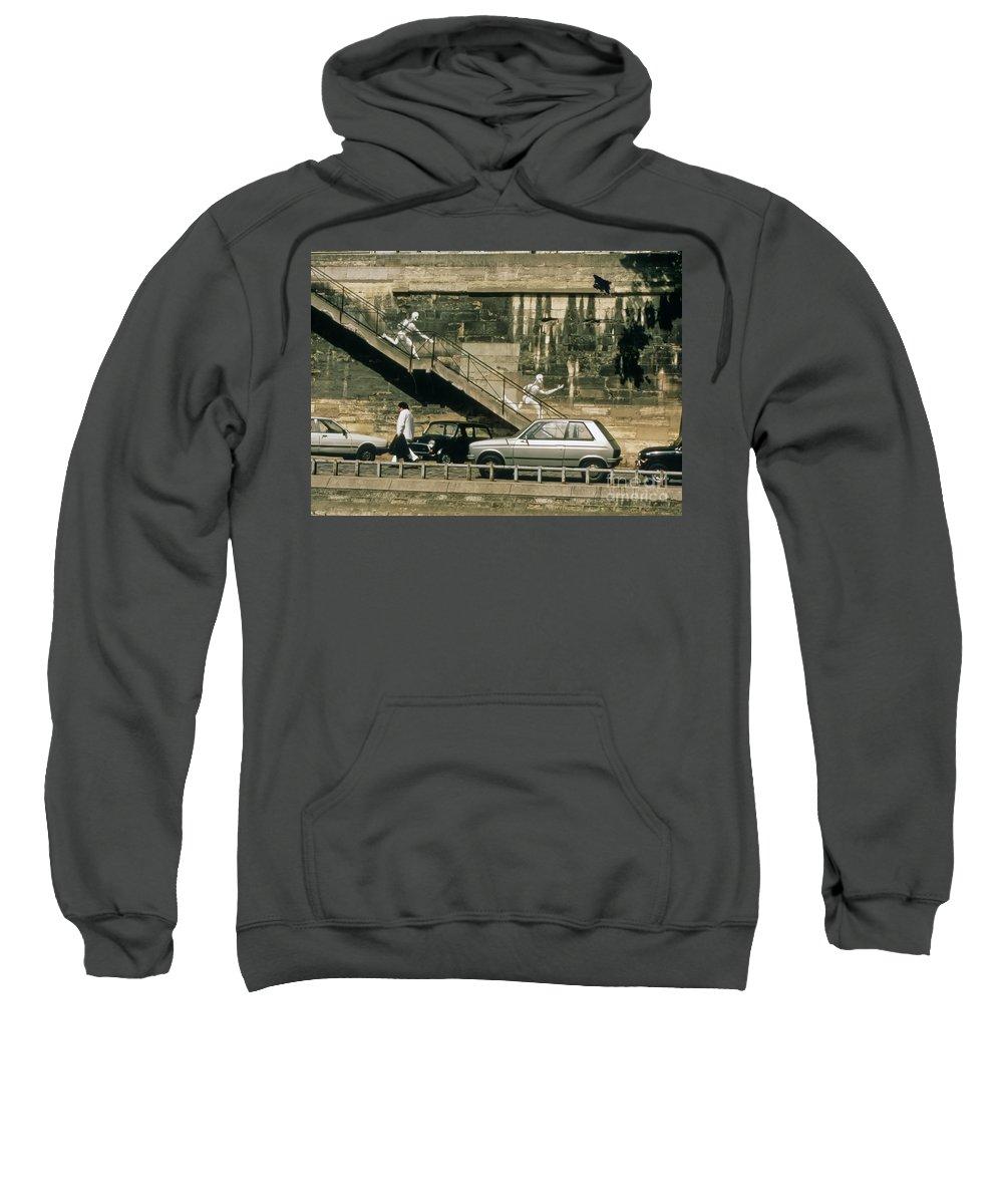 Paris Sweatshirt featuring the photograph Paris Wall by Thomas Marchessault