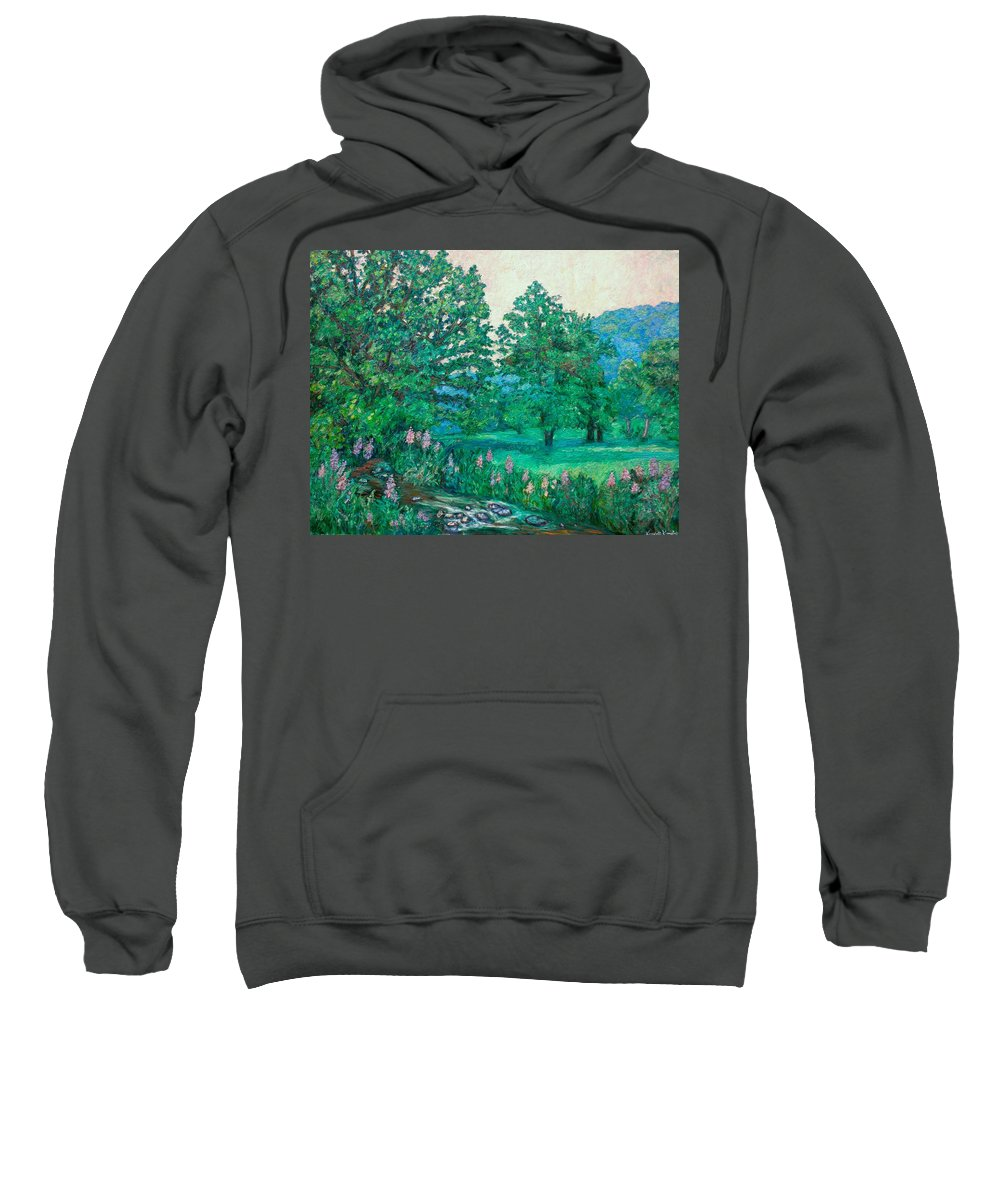 Landscape Sweatshirt featuring the painting Park Road In Radford by Kendall Kessler