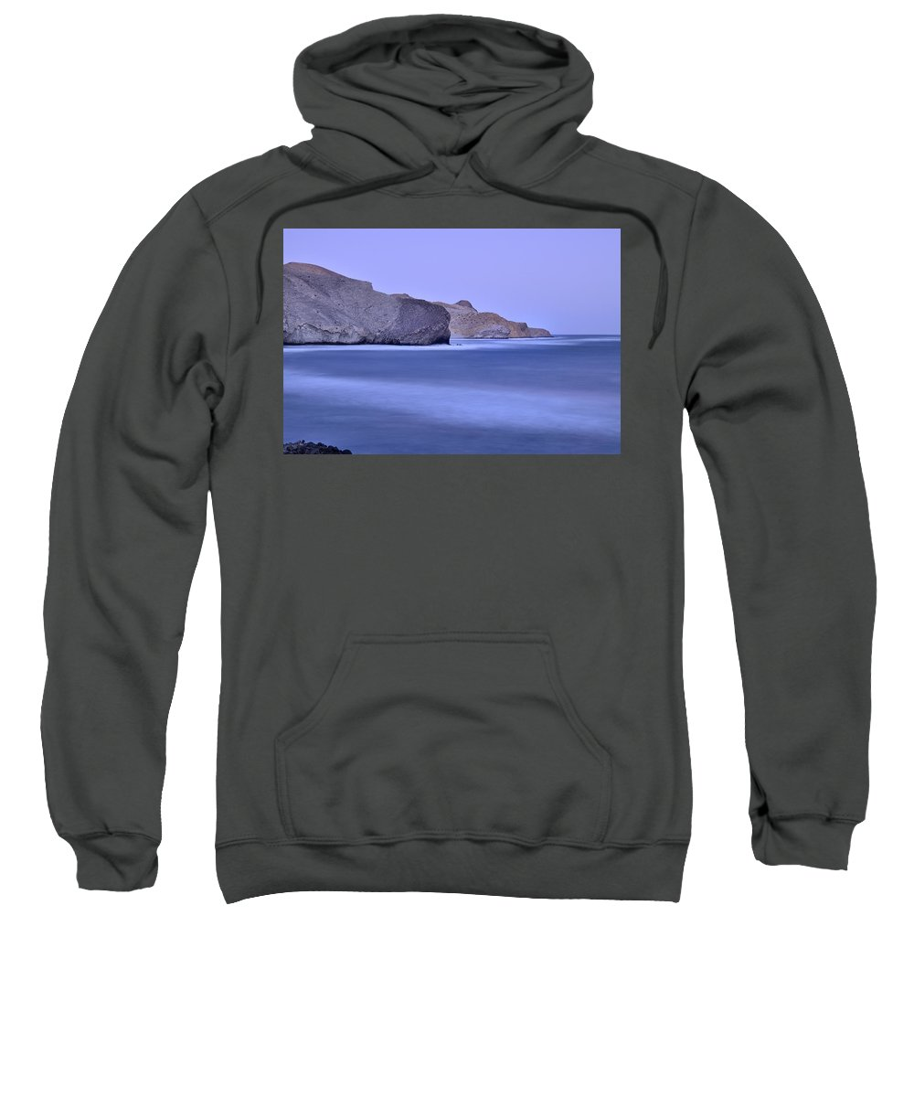 Seascape Sweatshirt featuring the photograph Parque Natural Cabo De Gata Almeria Spain by Guido Montanes Castillo