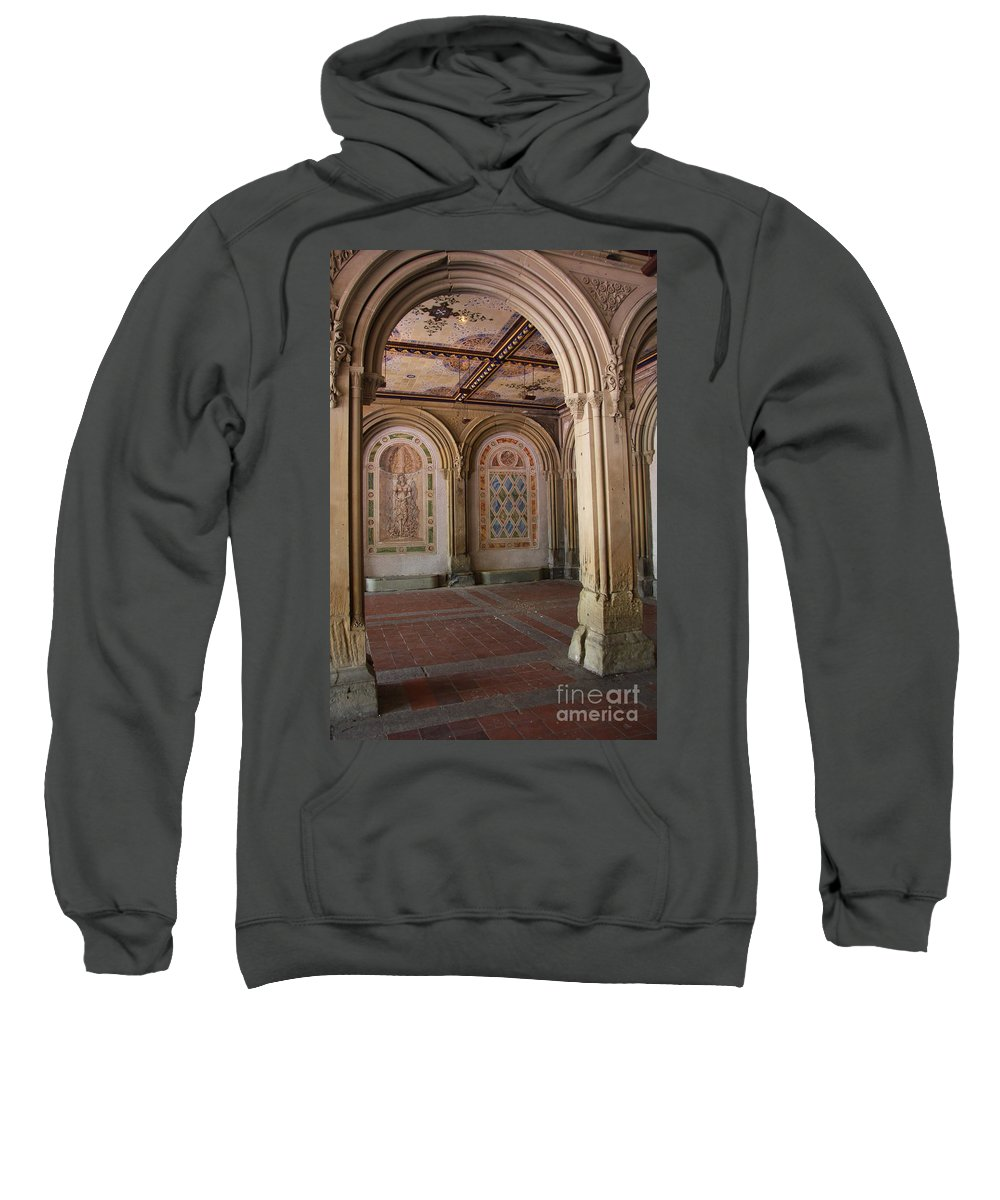 Arch Sweatshirt featuring the photograph Passage Bethesda Terrace Nyc by Christiane Schulze Art And Photography