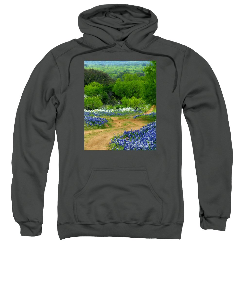 Flower Print Sweatshirt featuring the photograph Passing Through by Joe Jake Pratt
