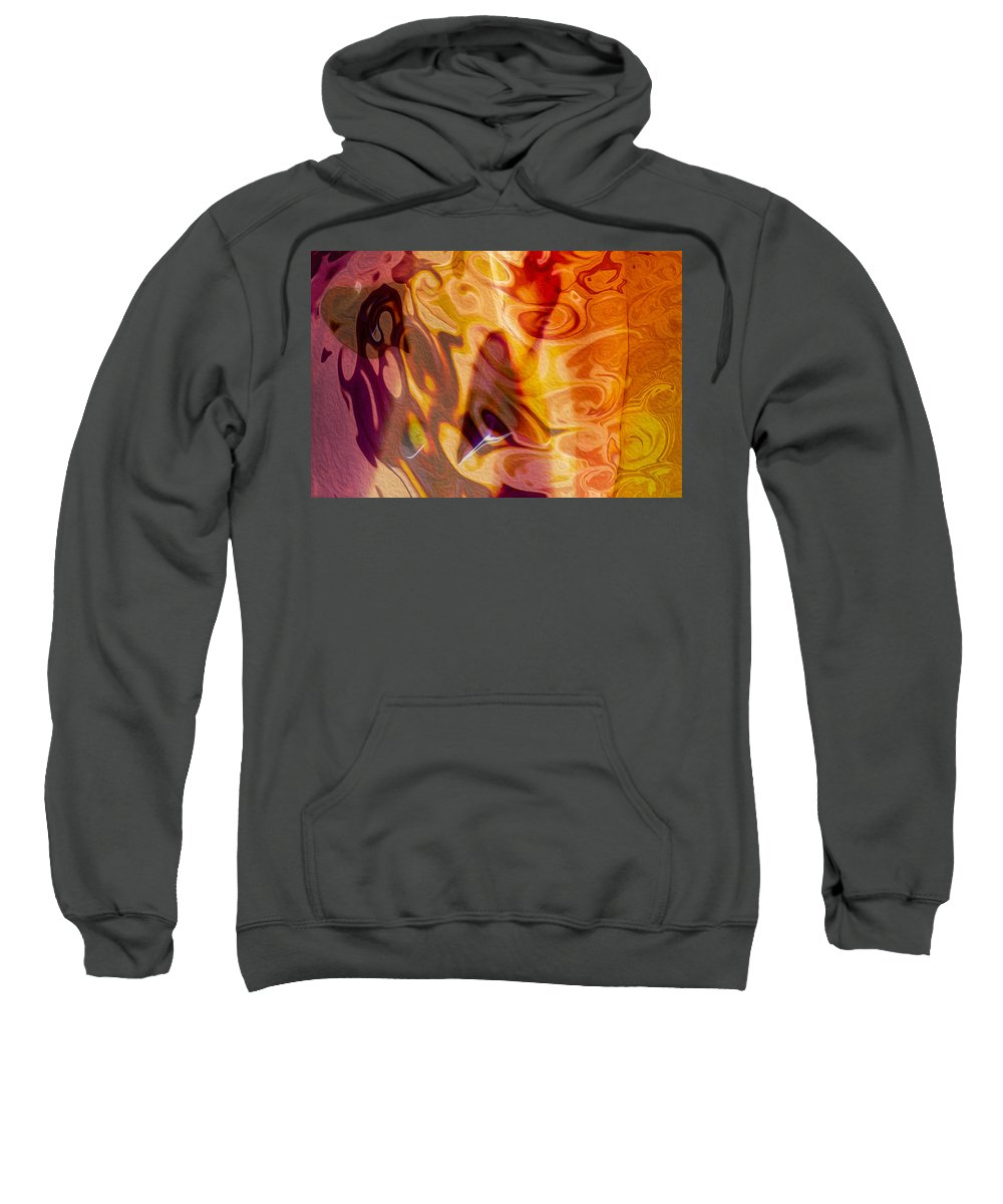 Georgia Okeefe Sweatshirt featuring the painting Passion Represents Color by Omaste Witkowski