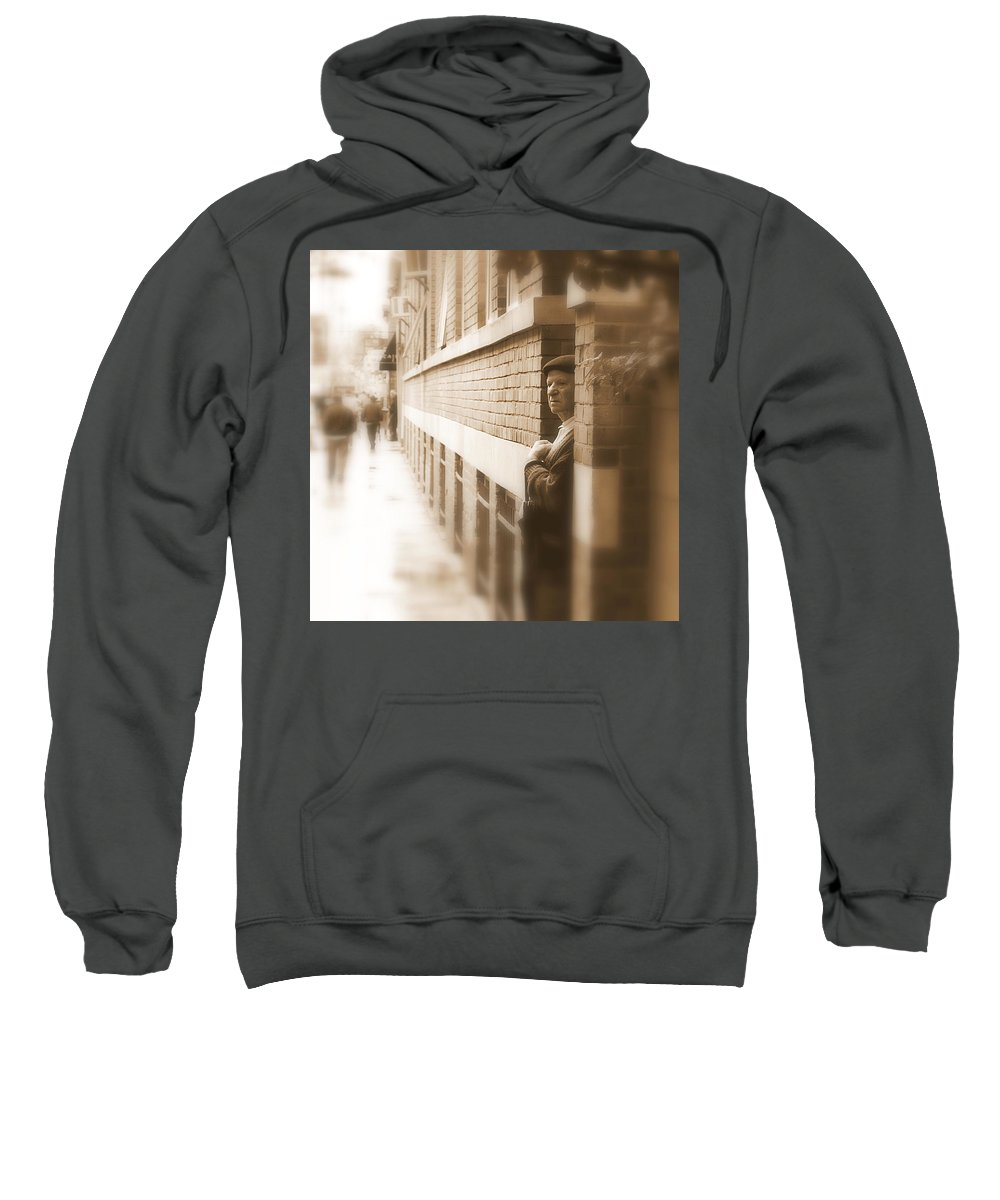 Street Sweatshirt featuring the photograph Past And Future by Valentino Visentini